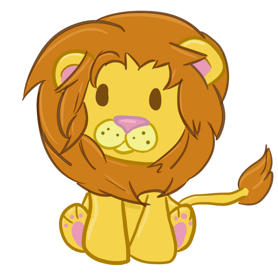 how to draw a cute lion