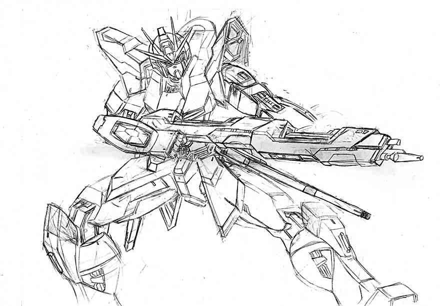 Gundam wing zero coloring pages coloring pages for Gundam wing coloring pages