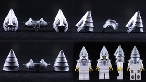 LEGO 3D Printed Painted Zant Headpiece