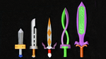LEGO 3D Printed Painted Majora's Mask Swords