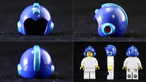 LEGO 3D Printed Painted Mega Man Helmet
