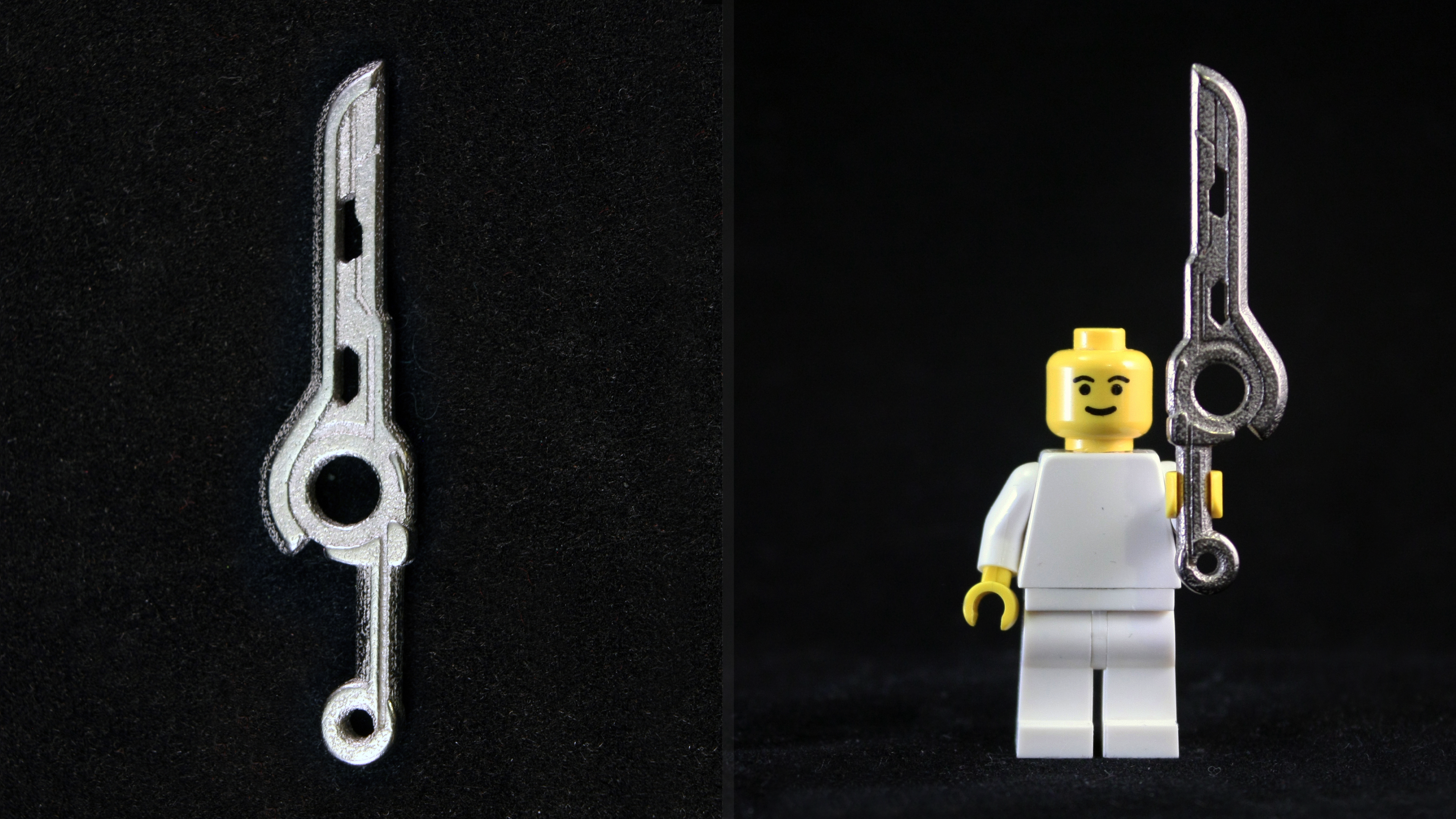 Lego 3D Printed Polished Nickel Steel Monado Sword by mingles
