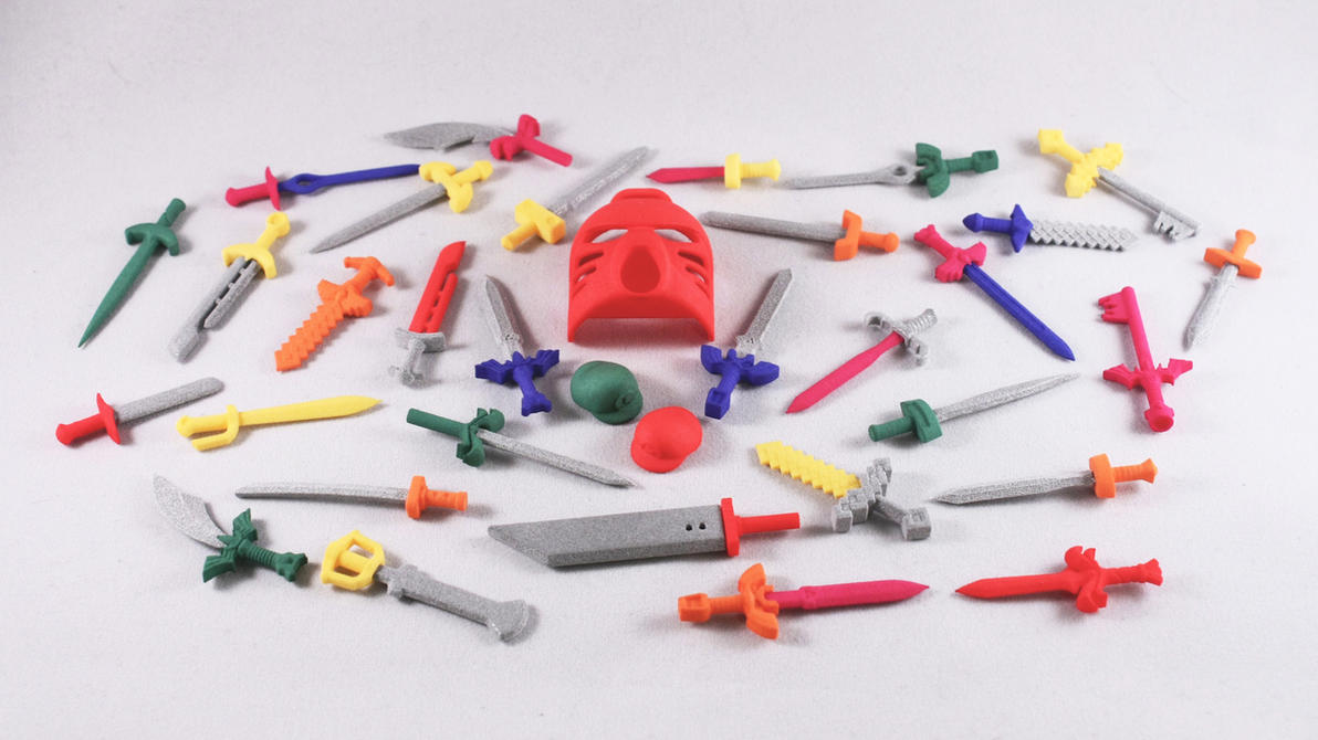 3D Printed Coloured Strong and Flexible LEGO by mingles