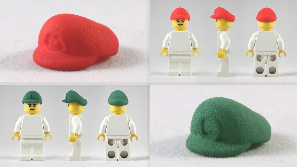 LEGO M and L Plumber Caps by mingles