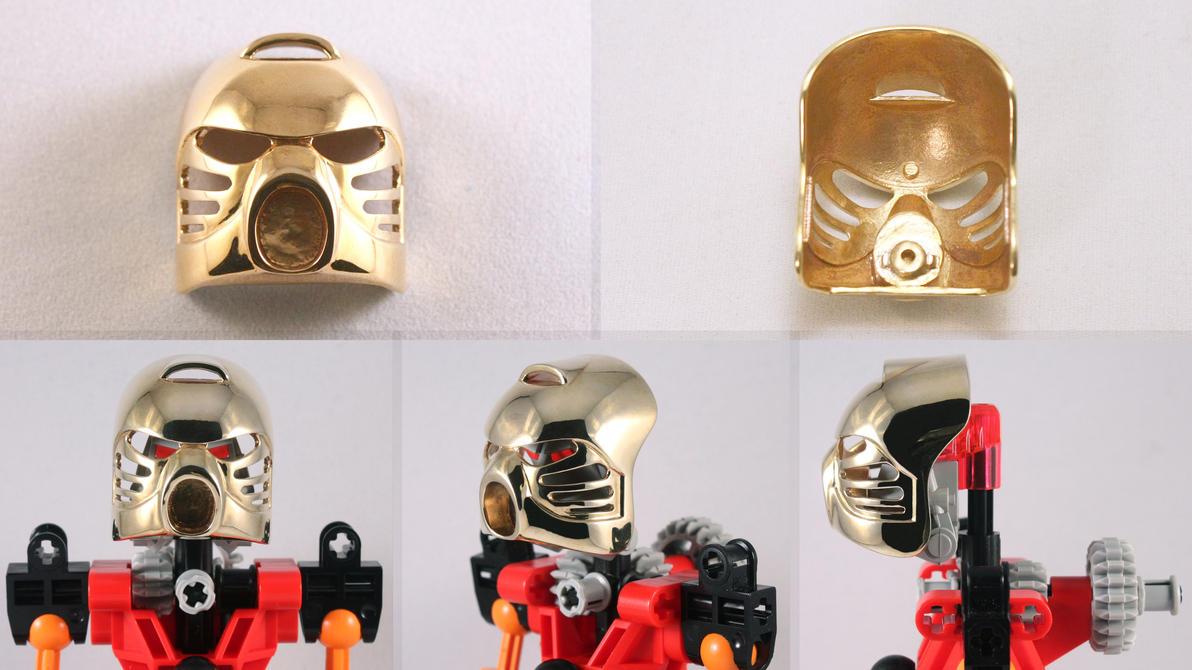 Brass 3D Printed Kanohi Hau by mingles