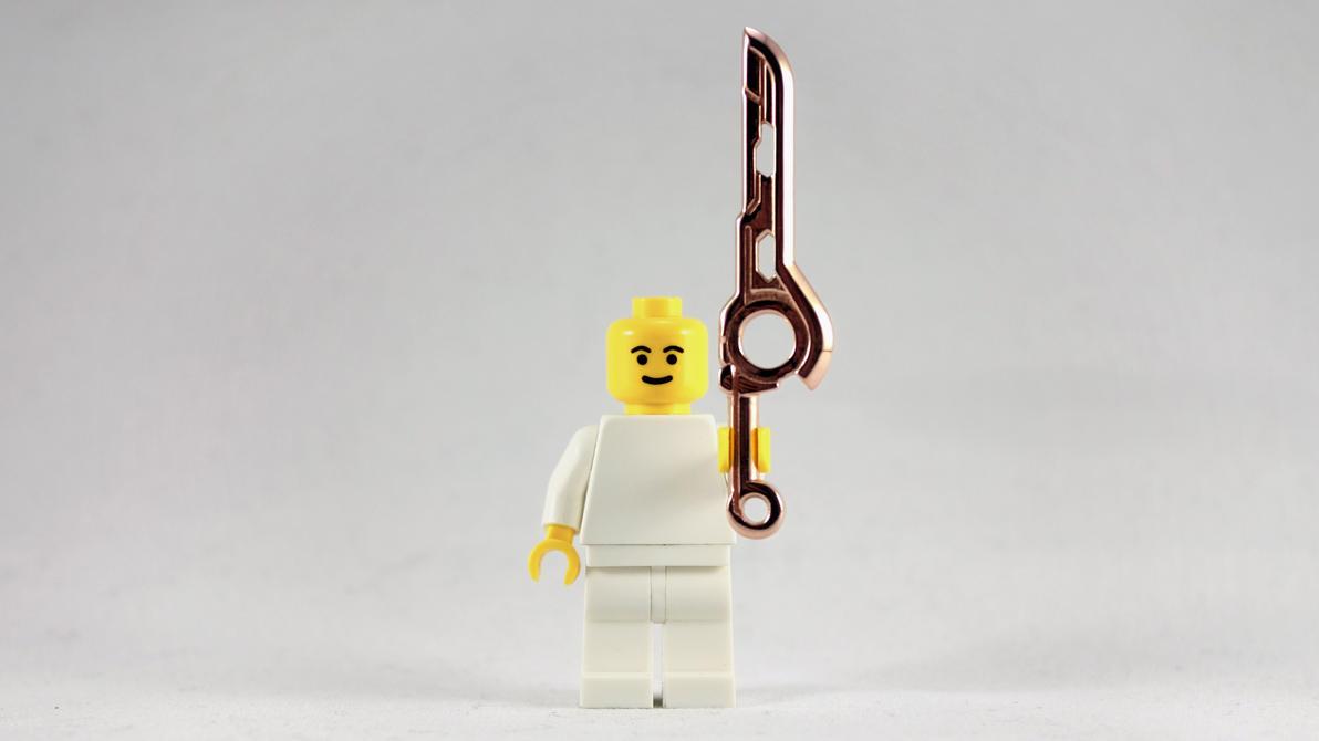 3D Printed Rose Gold LEGO Monado Sword by mingles
