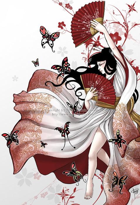 Red Fans by Bea-Gonzalez