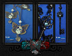 Necklaces: Butterfly+ Blue key