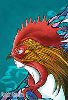 Rooster Mask by Bea-Gonzalez