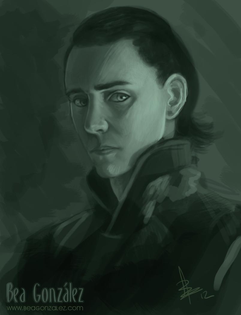 Loki Speedpainting by Bea-Gonzalez