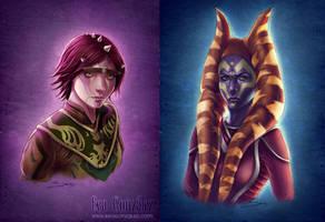 Commission- Zabrak and Togruta by Bea-Gonzalez
