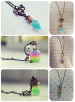 Bottle necklaces 4 by Bea-Gonzalez