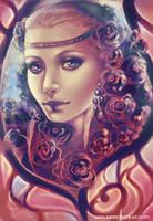 Roses - Speedpainting- by Bea-Gonzalez