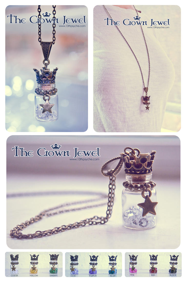 The Crown Jewel bottle necklace by Bea-Gonzalez