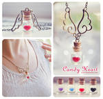 Candy heart Bottle necklace