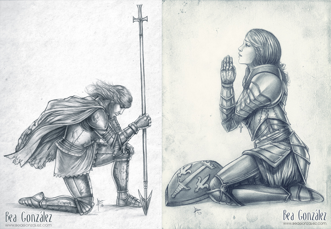 St george and joan of arc by bea gonzalez on deviantart for Tattoo shops in st george