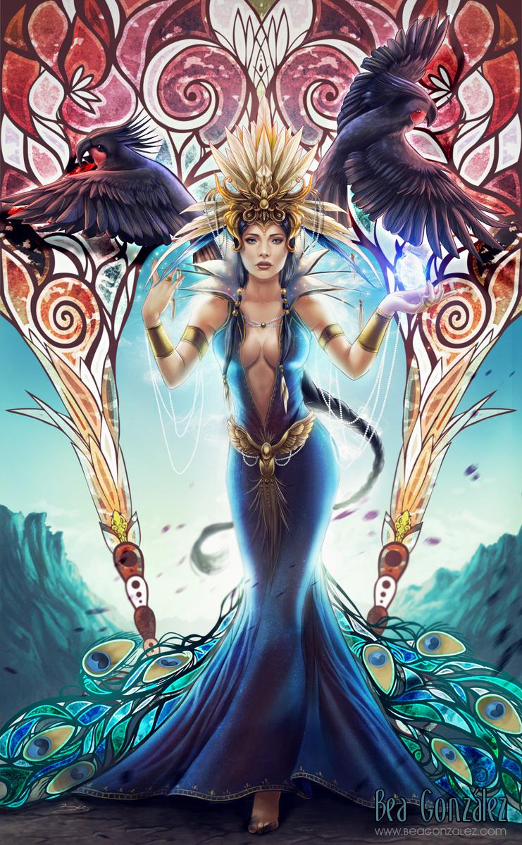 Goddess of birds by Bea-Gonzalez