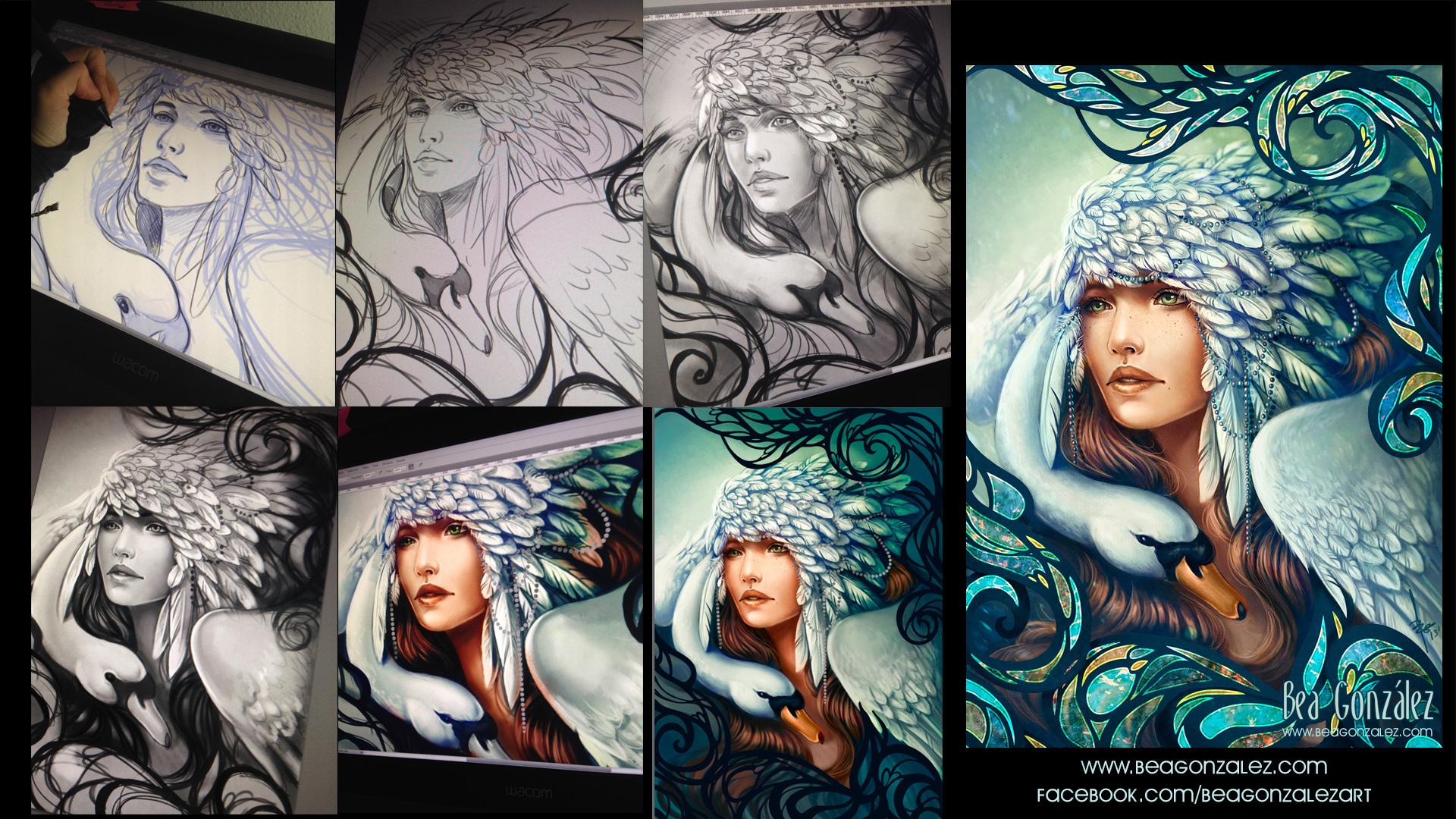 Work process. SWAN. by Bea-Gonzalez