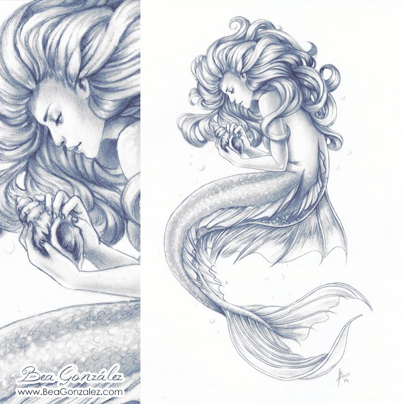 commission mermaid by bea gonzalez