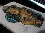 shaman cat lady my desing neotraditional