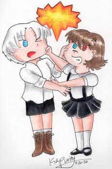 Chibi Dante and Lady