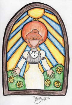 Stained glass Kyrie