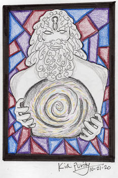 Stained glass Mundus
