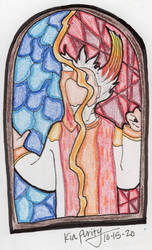 Stained glass Sanctus