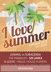 I Love Summer poster by kingmoeha