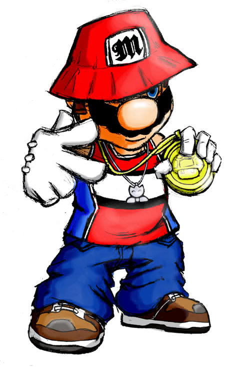 Gangster Hood Cartoon Characters : Gangsta mario by thecreator on deviantart