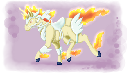 Armored Rapidash by EeveeDiSempre