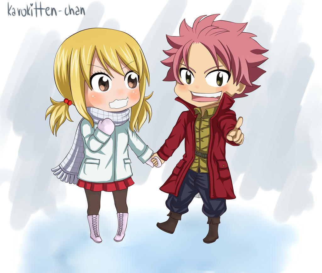chibi winter NaLu by