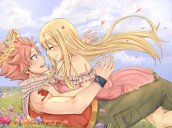 NaLu Fluff Week Day 1 - Flowers