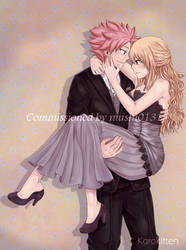 NaLu Prom Commission for mushi0131 by Karokitten-chan