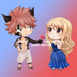 E.N.D!Natsu and Lucy Chibi Commission