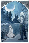Moonlit Encounter: The Witcher