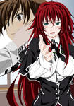 Issei Hyoudou and Rias Gremory