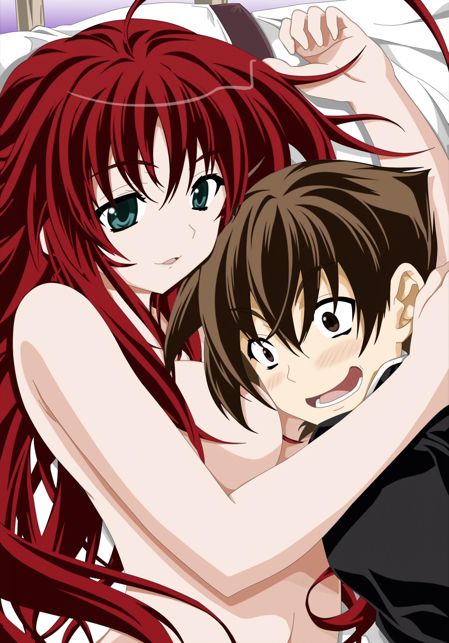 Rias Gremory and Issei Hyoudou by Maximilian-Destroyer on