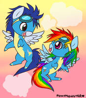 Dash and Soarin' 1 by ponymonster