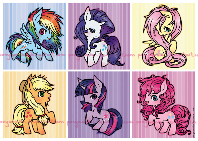 Squishy Ponies 2.0 by ponymonster