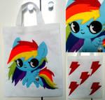 Rainbow Dash tote bag by ponymonster