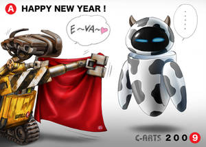 WALL-E New year card