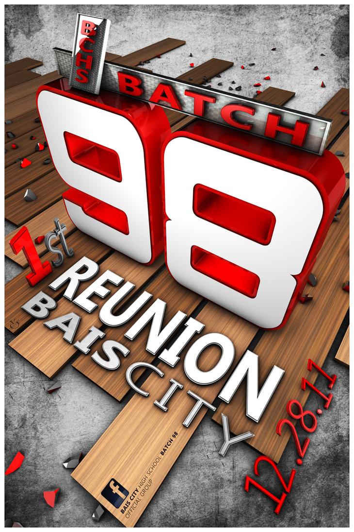 Design tshirt reunion - Final Batch 98 Reunion T Shirt By Lcjdesign