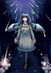 Meteor shower by sakuranez