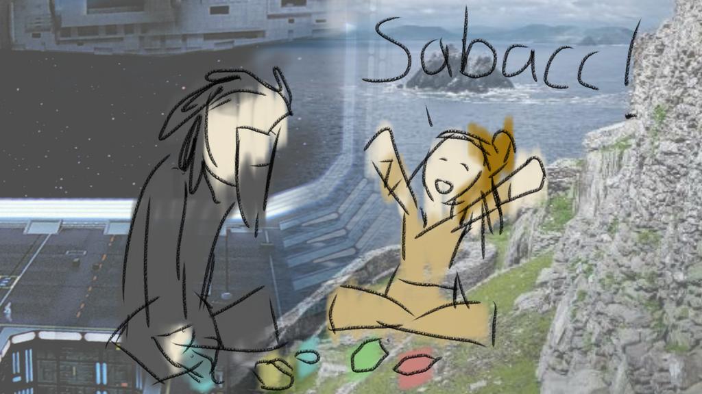 Kylo and Rey: sabacc by Kelmfire