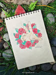 hand coming out of roses by setherpiece