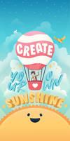Create Your Own Sunshine   Phone Wallpaper