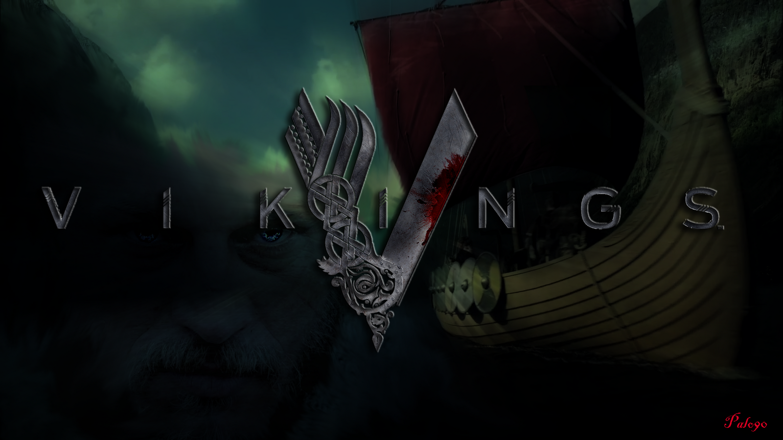 vikings history channel wallpaper by palo90 fan art wallpaper movies    Vikings Logo Wallpaper