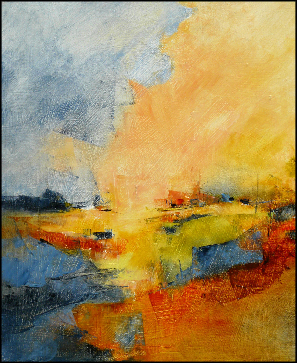 Paysage 46x55 by Malahicha