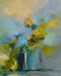 Bouquet au vase bleu 61 x 50